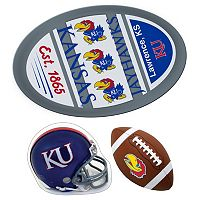 Kansas Jayhawks Helmet 3 pc Magnet Set