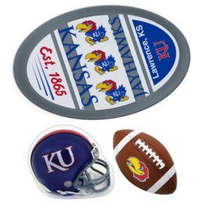 Kansas Jayhawks Helmet 3-Piece Magnet Set