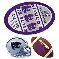 Kansas State Wildcats Helmet 3 pc Magnet Set