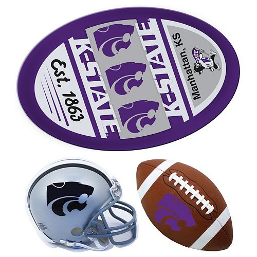 Kansas State Wildcats Helmet 3-Piece Magnet Set