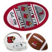 Louisville Cardinals Helmet 3-Piece Magnet Set