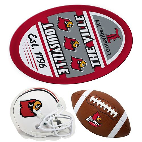 Louisville Cardinals Helmet 3-Piece Magnet Set