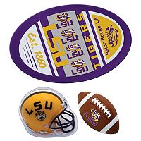 LSU Tigers Helmet 3 pc Magnet Set