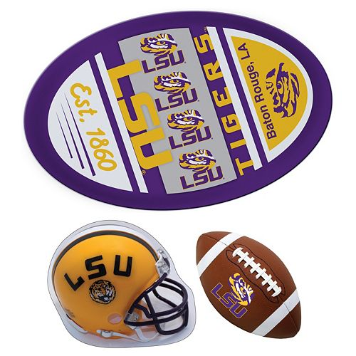 LSU Tigers Helmet 3-Piece Magnet Set