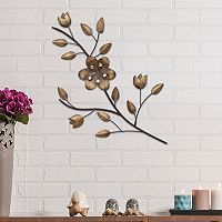 Stratton Home Decor Flower Branch Metal Wall Decor