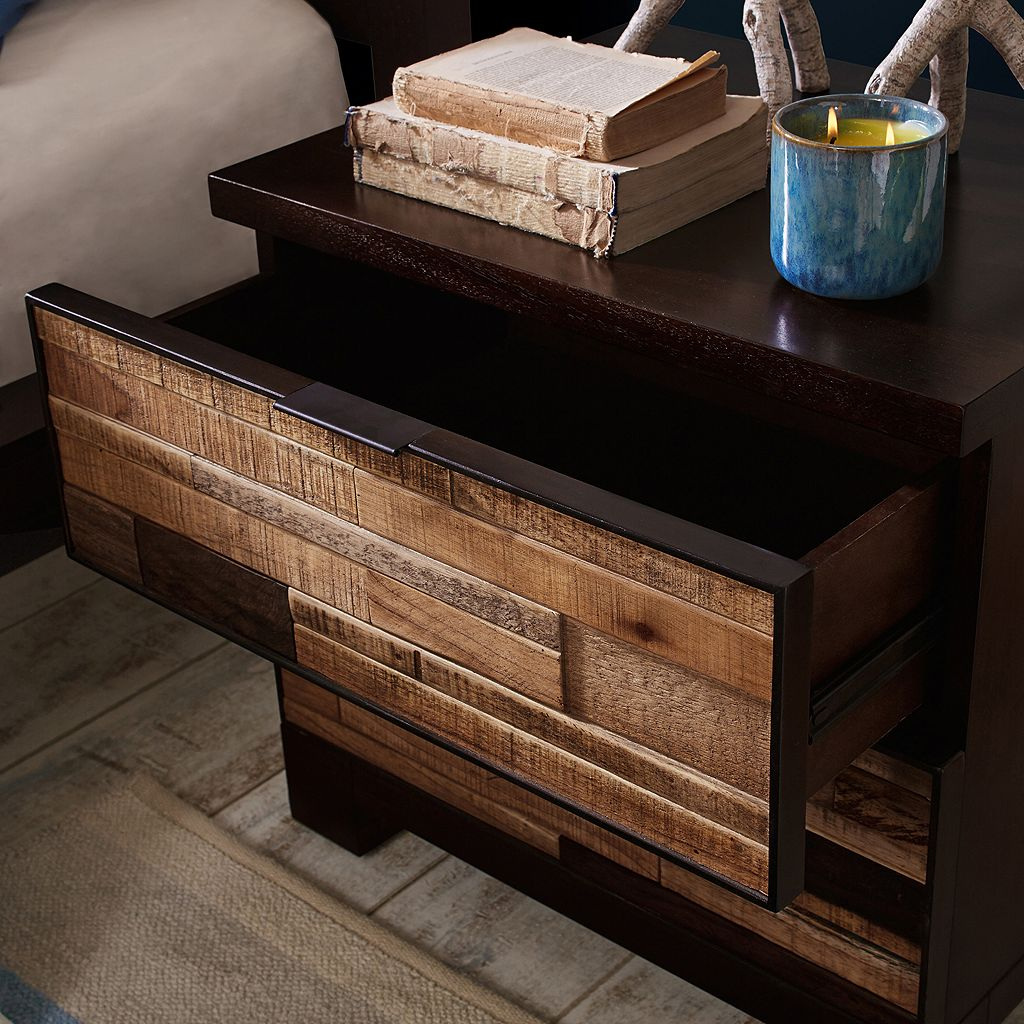 INK+IVY Tavarua Mosaic 2-Drawer Nightstand