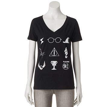 Juniors' Harry Potter Magical Symbols Graphic Tee