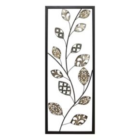 Stratton Home Decor Patterned Leaves Metal Wall Decor