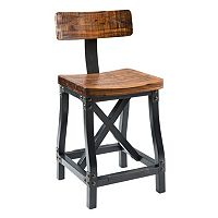 INK+IVY Lancaster Industrial Counter Stool