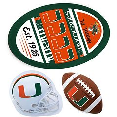 Miami Hurricanes Helmet 3-Piece Magnet Set