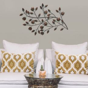 Stratton Home Decor Branch & Leaves Metal Wall Decor