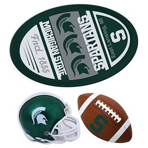 Michigan State Spartans Helmet 3-Piece Magnet Set