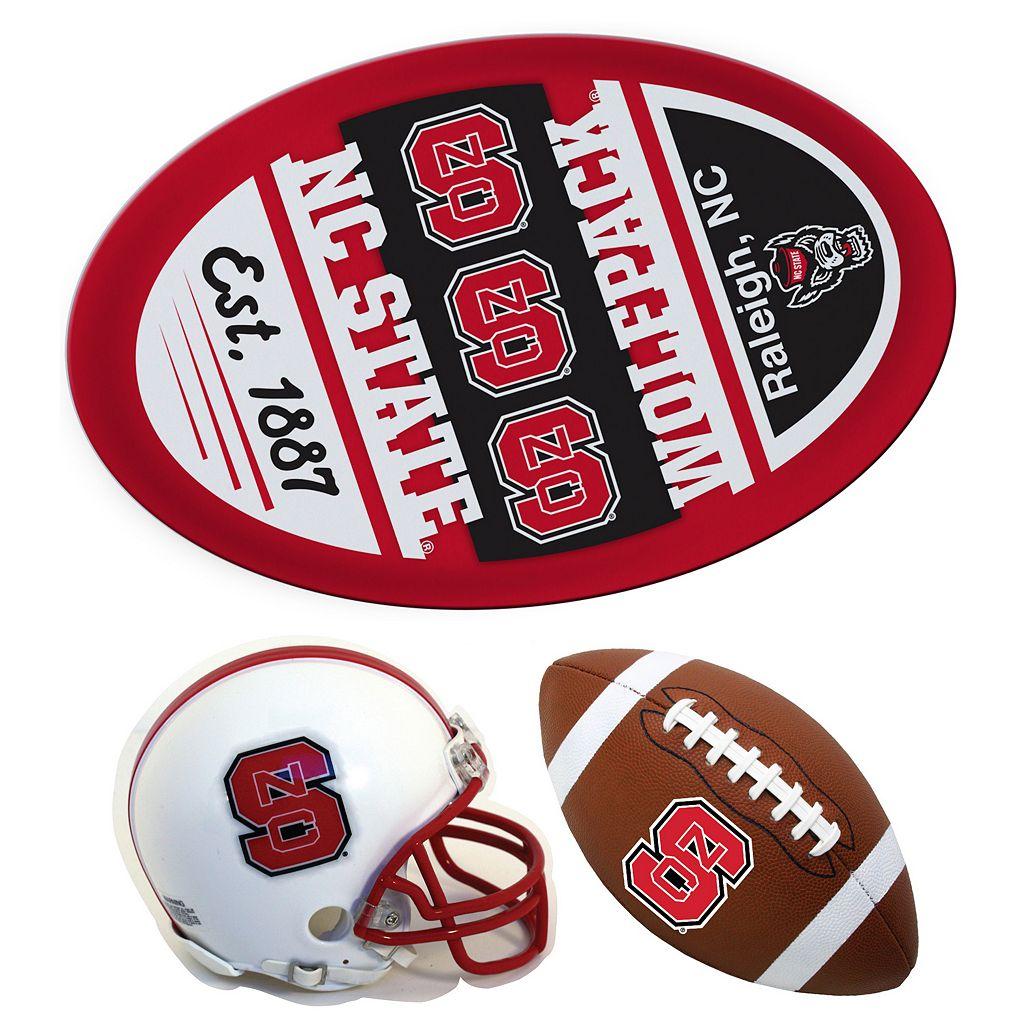 North Carolina State Wolfpack Helmet 3-Piece Magnet Set