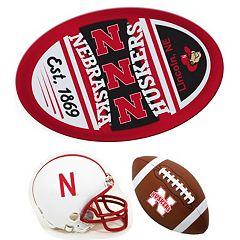 Nebraska Cornhuskers Helmet 3-Piece Magnet Set