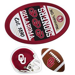 Oklahoma Sooners Helmet 3-Piece Magnet Set
