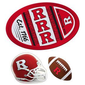 Rutgers Scarlet Knights Helmet 3-Piece Magnet Set