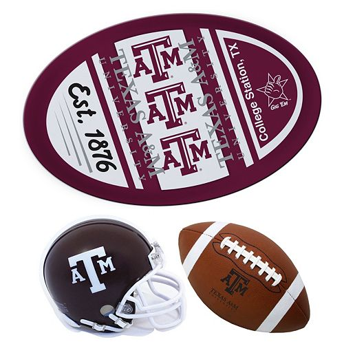 Texas A&M Aggies Helmet 3-Piece Magnet Set