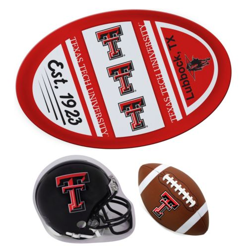 Texas Tech Red Raiders Helmet 3-Piece Magnet Set