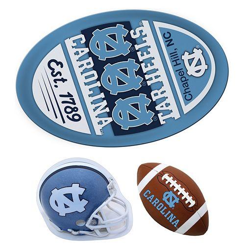 North Carolina Tar Heels Helmet 3-Piece Magnet Set
