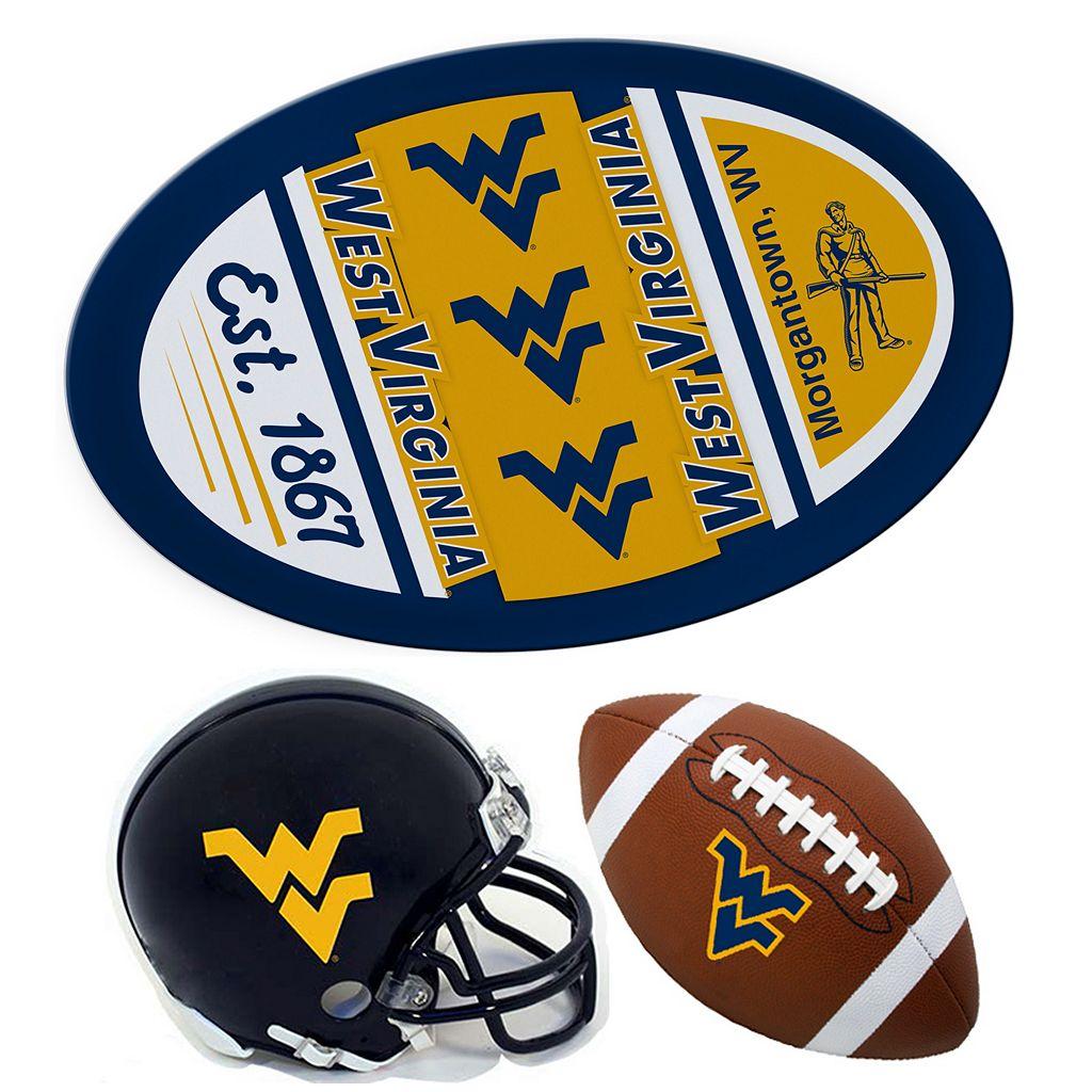 West Virginia Mountaineers Helmet 3-Piece Magnet Set