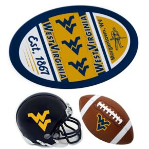 West Virginia Mountaineers Helmet 3-Piece Magnet Set