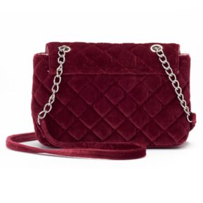 Candie's® Velvet Quilted Crossbody Bag