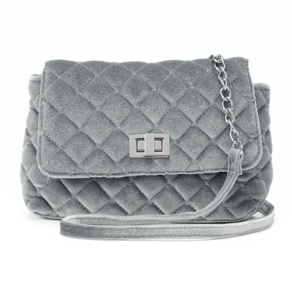 Velvet Quilted Crossbody Bag : quilted crossbody - Adamdwight.com