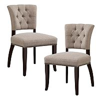 INK+IVY Brooklyn Tufted Dining Chair 2 pc Set