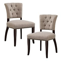 INK+IVY Brooklyn Tufted Dining Chair 2-piece Set