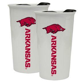 Arkansas Razorbacks 2-Pack Ceramic Tumbler Set