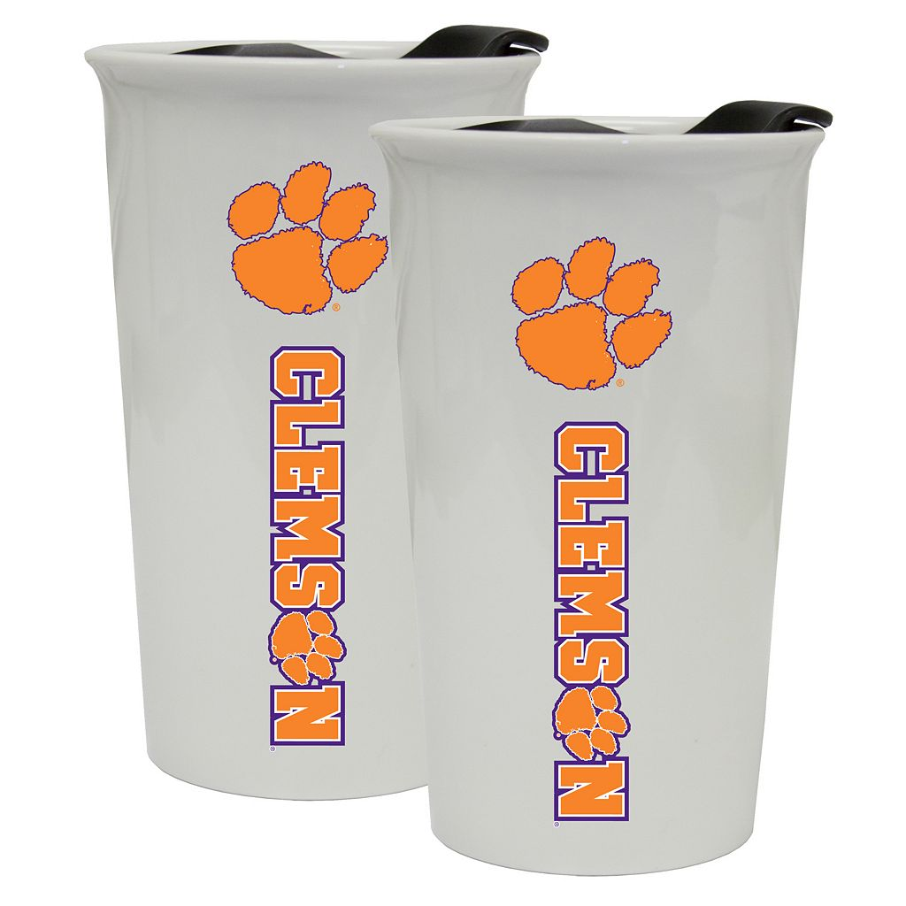 Clemson Tigers 2-Pack Ceramic Tumbler Set