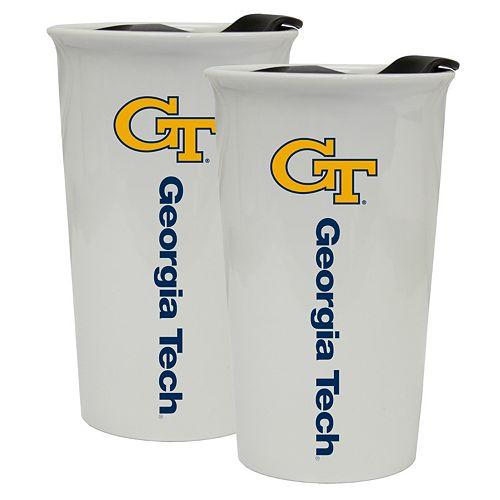 Georgia Tech Yellow Jackets 2-Pack Ceramic Tumbler Set