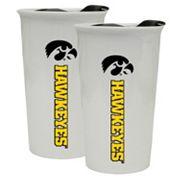 Iowa Hawkeyes 2-Pack Ceramic Tumbler Set