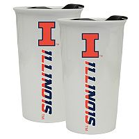 Illinois Fighting Illini 2-Pack Ceramic Tumbler Set