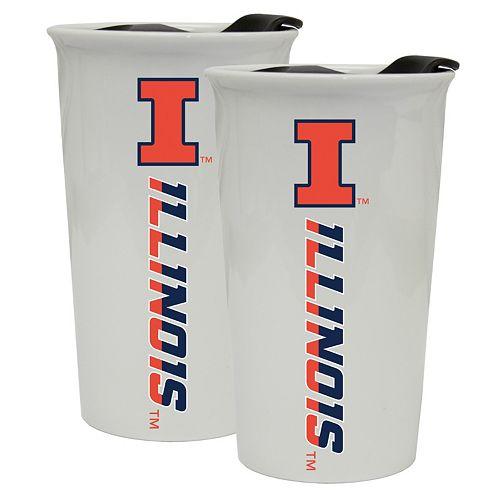 Illinois Fighting Illini 2-Pack Ceramic Tumbler Set