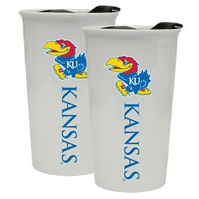 Kansas Jayhawks 2-Pack Ceramic Tumbler Set