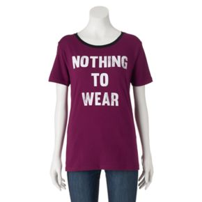 "Juniors' ""Nothing To Wear"" Graphic Tee"