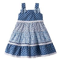 Baby Girl Blueberi Boulevard Tiered Swing Dress