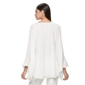 Women's Jennifer Lopez Embroidered High-Low Top