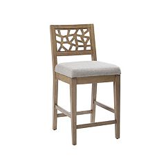 INK+IVY Crackle Contemporary Cutout Bar Stool
