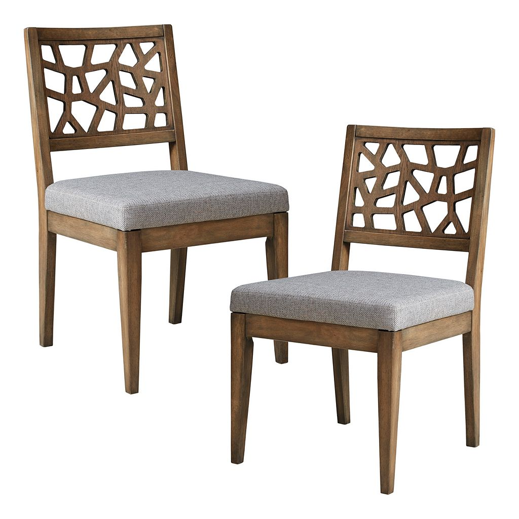 INK+IVY Crackle Cutout Dining Chair 2-piece Set