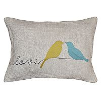 Spencer Home Decor ''Love'' Wren Oblong Throw Pillow