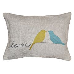 Spencer Home Decor ''Love'' Wren Oblong Throw Pillow