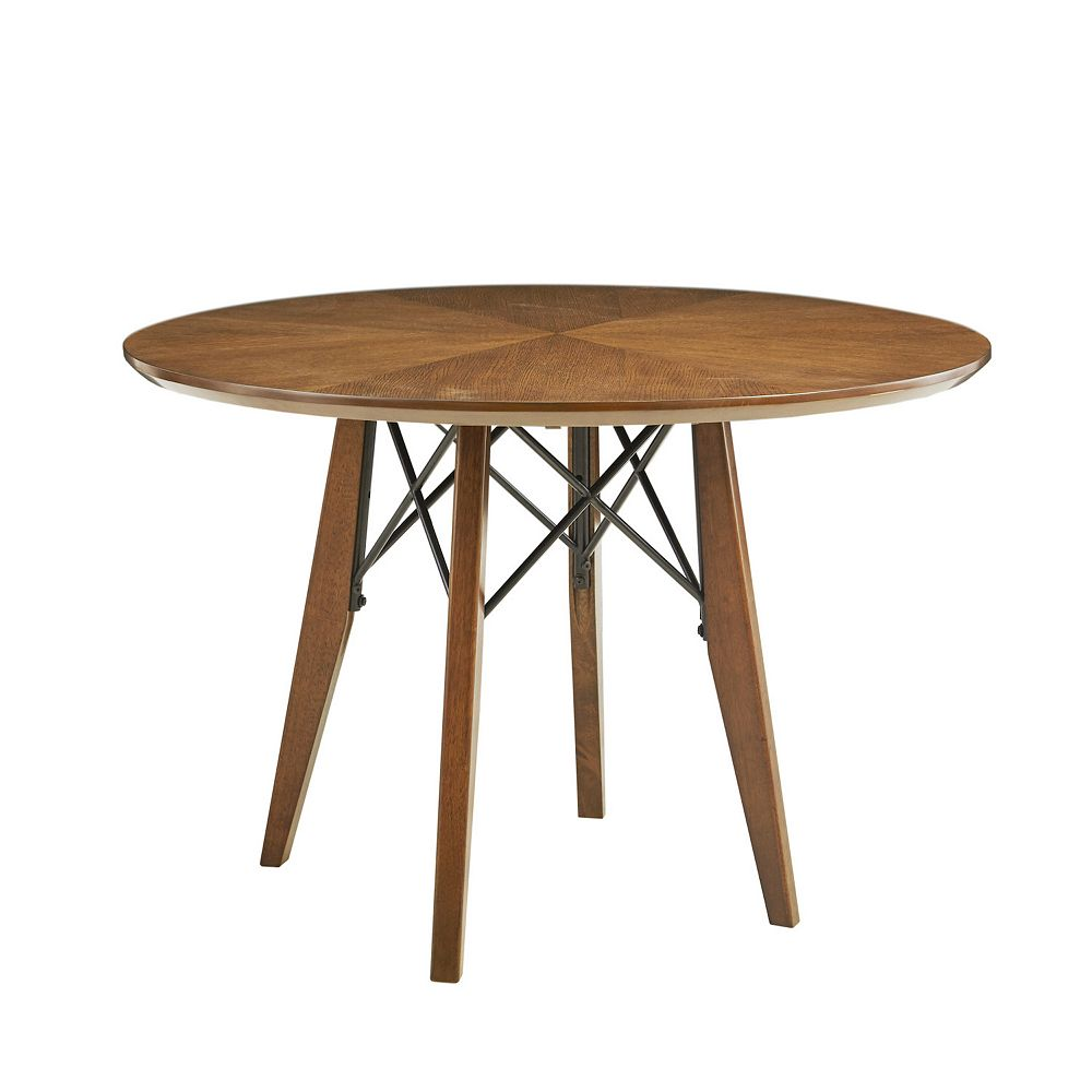 INK IVY Clark Adjustable Round Dining Table