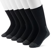 Extended Size Croft & Barrow® 6-pack Opticool Work Crew Socks