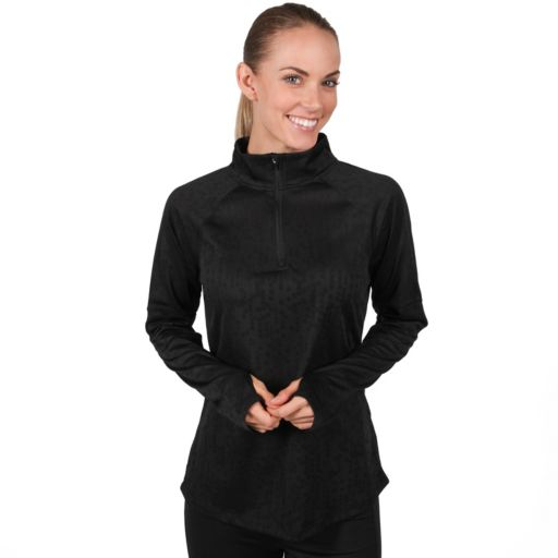 Women's Jockey Sport Jacquard Half Zip Running Jacket