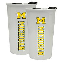Michigan Wolverines 2-Pack Ceramic Tumbler Set