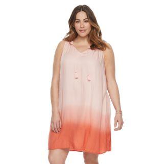 Plus Size SONOMA Goods for Life™ Splitneck Tank Dress