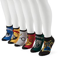 Women's 6-pk. Harry Potter Hogwarts House Crests No-Show Socks