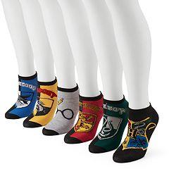 Women's 6-pk. Harry Potter Hogwarts House Crests No-Show Socks